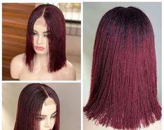 Box Braid Wig, Braids Wig, Cornrows, Box Braids, Micro Braids, Short Wigs, Faux Locs, African Hairstyles, Blue Ombre