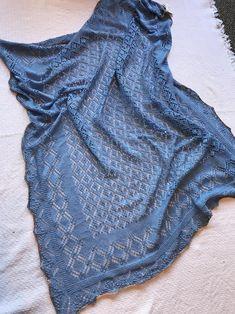 Large blue silk wool blend handknit lace shawl | Etsy Wedding Shawl, Silk Wool, Crochet Shawl, Hand Knitting, Merino Wool, Wool Blend, Lace, Pattern, Etsy