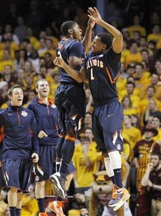 """""""We feel like we can compete with anybody and we can win any game we play,"""" said Brandon Paul, who had 10 points. """"The Big Ten is so crazy. It's tough anywhere you go, especially on the road. So you find a way to tough it out.""""    D.J. Richardson added 13 points for the Illini, who ended a 10-game losing streak on the road against ranked Big Ten teams. Their last such win was three years ago at Wisconsin."""