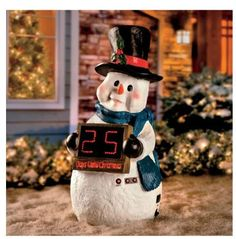 Snowman Countdown To Christmas Outdoor Yard Decoration