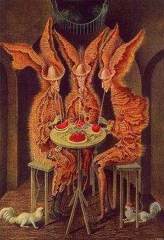 'My highlight of the year' — Vampiros Vegetarianos by Remedios Varo Female Painters, Miniature Quilts, Art Auction, Leaf Prints, Art Pictures, Art Pics, Fantasy Art, Art Drawings, Art Projects