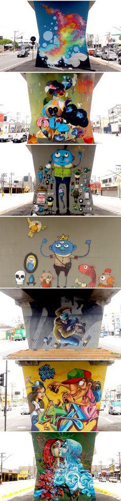 1º Museu Aberto de Arte Urbana, inédito no Brasil e no mundo. As 33 colunas de 4 metros de altura do metrô abriram espaço para as artes de Binho, Chivitz, Akeni, Minhau, Larkone, Onesto, Zezão, Higraff, Presto e Anjo, quase todos moradores da zona norte. Foram usados ao todo três mil latas de spray especial e 40 latas de 18 litros de látex.