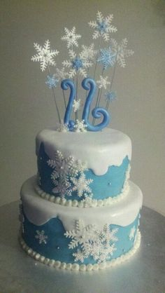Sweet sixteen winter wonderland theme