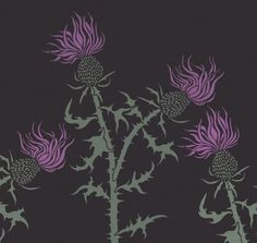 Wall Stencil - THISTLE - Reusable - DIY Home Decor | OliveLeafStencils - Craft Supplies on ArtFire