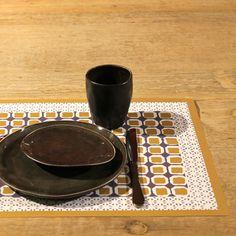 Sets de table en papier par 100 feuilles Windy Hill motifs géométriques : Decoclico