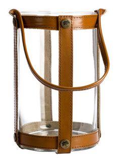 Lanterne Marstrand / H25 cm - Cuir - Skargaarden Candle Lanterns, Candles, Decoration, Objects, Outdoor Furniture, Lighting, Design, Accessories, Furnitures