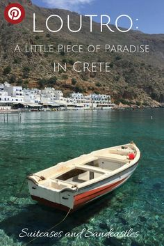 Loutro: A Little Piece of Paradise in Crete, perfect greek harbour, laid-back Greece, how to find places that feel as if time stands still, where you can completely relax. The most beautiful places in Greece, best places to visit in Crete.