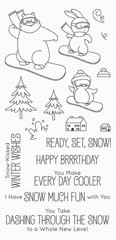 Exceptional diy hacks projects are readily available on our site. Read more and you wont be sorry you did. Dashing Through The Snow, Snow Much Fun, How To Make Snow, Mft Stamps, Hand Embroidery Patterns, Tampons, Christmas Pictures, Craft Patterns, Clear Stamps
