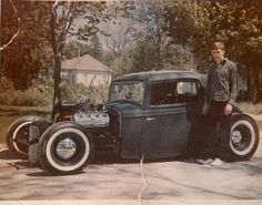 Old school hot rod. Look at how channeled this thing is!