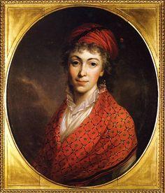 Portret Izabeli z Flemingów Czartoryskiej 1796. Olej na płótnie. 64 x 53 cm. Muzeum Czartoryskich w Krakowie. Portrait of Isabella Czartoryski Fleming In 1796.