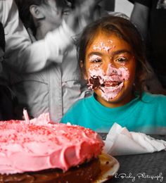 Happy Birthday to the beautiful little sweetie who thought her cake smelt funny …  At the Breakfast Club in the garbage dumps in Tijuana, Mexico