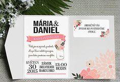 Květinové svadobné oznámenia -  sada s obálkou