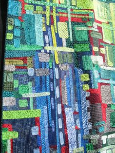 mod patch by Tumalo Baby, via Flickr..the quilting lines really makes this quilt!