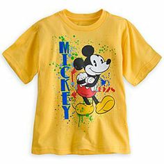 Disney Mickey Mouse Splatter Tee for Boys | Disney StoreMickey Mouse Splatter Tee for Boys - Mickey takes it back to the art studio on a bright, carefree cotton tee with vivid retro graphics and muti-color ''paint splatter.''