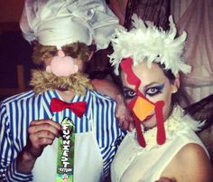 Couple Costumes for Halloween. The Swedish Chef and Camilla the Chicken.