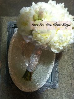 Bride boquet,  #peonies, #white weddings #Fairy foufrou 2013