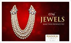Have a powerful effect, wherever you go, with this impressive jadau and pearl necklace from Ranka Jewellers.