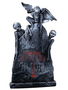 Here Lies Beetlejuice Tombstone Graveyard Halloween Prop Decoration Yard Decor #Rubies