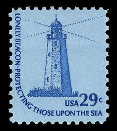 Sandy Hook, New Jersey Lighthouse. Lighthouse Art, Rare Stamps, Sandy Hook, Stamp Collecting, My Stamp, Travel Posters, Postage Stamps, North America, Going Postal