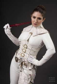 Mord Sith white leather outfit.