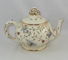"Lenox China ""Summer Enchantment Teapot"" Mint Never Used 