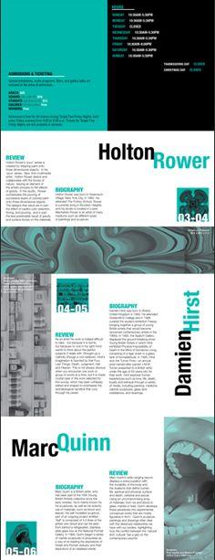 MoMA brochure design project Brochure Design Samples, Brochure Ideas, Design Projects, Color Schemes, Editorial, Advertising, Design Inspiration, Layout, Branding