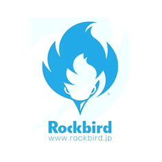 Rockbird(ロックバード)のロゴ:青い炎の鳥   ロゴストック