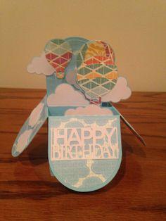 Hot Air Balloon Box Card @svgcuts