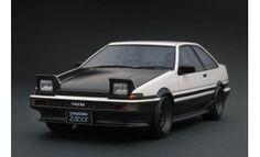Toyota Sprinter Trueno (AE86) 2 Door GT Apex White/Black Ignition Model, Initial D, Ae86, Jdm, Diecast, Dream Cars, Toyota, Doors, Black And White