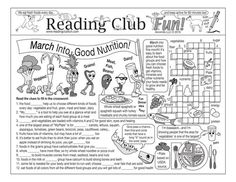 MARCH INTO GOOD NUTRITION - Enjoy a Nutrition-themed Two-Page Activity Set and Word Search Puzzle Set with this discounted bundle! Includes the following products:  • March Into Good Nutrition Two-Page Activity Set   • March Into Good Nutrition Word Search Puzzle Set   • March Into Good Nutrition Reading Log and Certificate Set