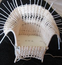 Casey's Minis: January 2012 mini doll chair....cute!!