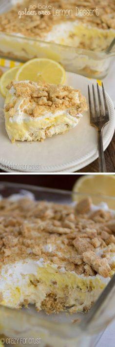 *No-Bake Lemon Dessert | crazyforcrust.com | Full of lemon curd flavor and Golden Oreos! Yammy recipes, have you tried? - http://chocolateaddiction.info/no-bake-lemon-dessert-crazyforcrust-com-full-of-lemon-curd-flavor-and-golden-oreos/  #chocolate #dessert #recipes