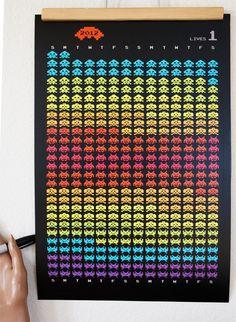Printable PDF 2013 Alien Invader Calendar by ShopAmySullivan, $20.00