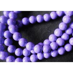 Purple Opaque Glass Rounds , - Per String of /- for Bead Shop, Pearl Necklace, Shops, Pearls, Purple, Bracelets, Glass, Jewelry, Bangles