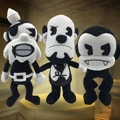 """The Butcher Gang/'s Edgar Plush Toy Super Soft Cuddly Sturdy BLK White Small 7/"""""""