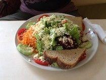 Le e Lu on the eat: - Qualche piatto in Auroville e dintorni..salad and feta cheese