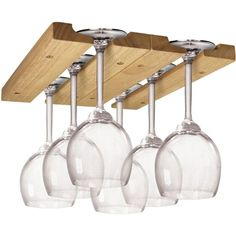This Wooden Wine Glass Rack provides you with an easy and convenient way to store and organize your wine glass collection. This Wooden Wine Glass Rack provides you with an easy and convenient way to store and organize your wine glass collection. Hanging Wine Glass Rack, Wine Glass Storage, Wine Glass Holder, Hanging Wine Glasses, Wine Shelves, Glass Shelves, Vin Palette, Wood Hanger, Wine Cabinets