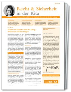"""#Recht & #Sicherheit in der #Kita - Die Rechtsberatung für die Kita-#Leitung. Chefredakteurin Judith Barth, Rechtsanwältin und Expertin im Kita-Bereich, kennt Ihre Bedürfnisse als Kita-Leiterin genau. In """"Recht & Sicherheit in der Kita"""" stellt sie Ihnen ganz konkrete aktuelle Fälle aus der Kita-Praxis vor – jeden Monat neu. #kindergarten #krippe #hort #ratgeber #gesetze #kitaleitung #erzieherin"""