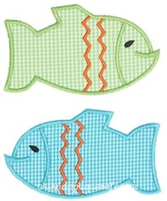 Two Fish Applique Design