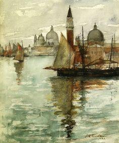 lamemoiredesjours:    John Henry Twachtman- Venice