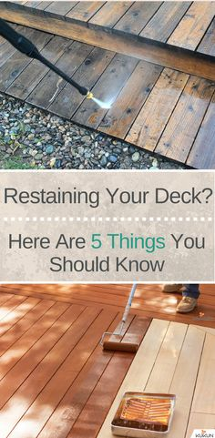 Restaining Your Deck? Here Are 5 Things You Should Know [Restaining Deck, Restaining Deck DIY, Restaining Deck Woods, DIY Home Improvement, Renovation Ideas] Restain Deck, Staining A Deck, Wood Patio, Deck Patio, Deck Makeover, Deck Decorating, Diy Deck, Building A Deck, Building Plans