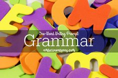 One-Word Writing Prompt: Grammar