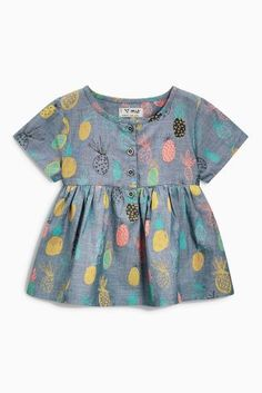 989930d7a1 Buy Chambray Pineapple Blouse (3mths-6yrs) from the Next UK online shop Kids