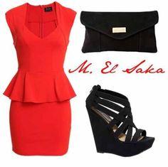 Red perplum dress got this same dress !!