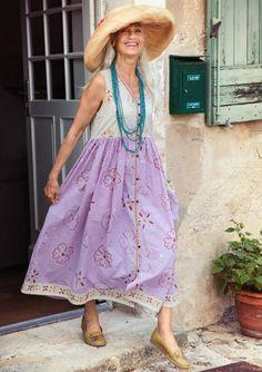 what a cool summer dress!  :-)