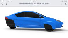 Elio Motors newest rendering. This is what the production model should look like. Elio Motors, 3rd Wheel, Cars, Vehicles, Awesome, Pretty, Model, Tricycle, Autos