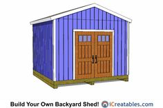 12x12 backyard shed plans.