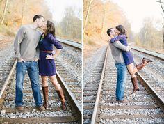 Train Tracks | Engagement Session
