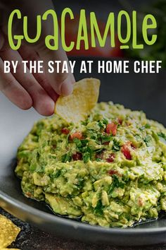 Stay @ Home Guacamole. This Authentic Guacamole recipe is simple and ious! It has that buttery, mild avocado flavor with a rich mix of herbs and spices—and it goes with everything! Chef Recipes, Mexican Food Recipes, Appetizer Recipes, Appetizers, Cooking Recipes, Healthy Recipes, Ethnic Recipes, Party Recipes, Potato Recipes