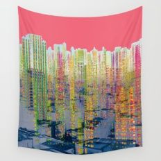 Fragmented Worlds II IV Wall Tapestry